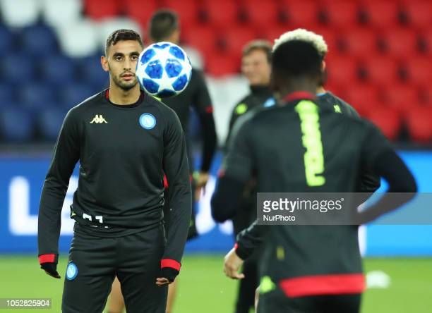 UEFA Champions League Group C Faouzi Ghoulam of Napoli at Parc des Princes in Paris France on October 23 2018