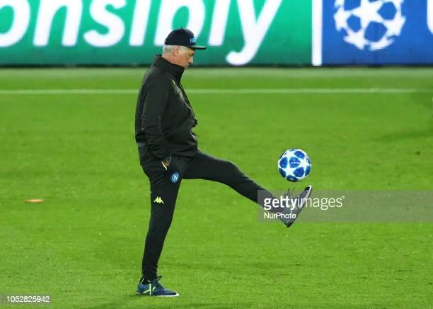 UEFA Champions League Group C Napoli trainer Carlo Ancellotti at Parc des Princes in Paris France on October 23 2018