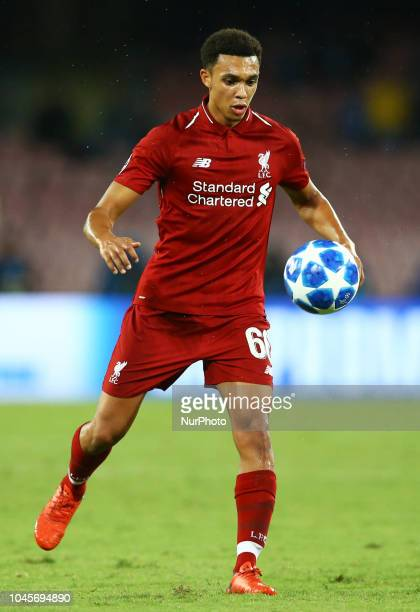SSC Napoli v FC Liverpool UEFA Champions League Group C Trent AlexanderArnold of Liverpool at San Paolo Stadium in Naples Italy on October 3 2018