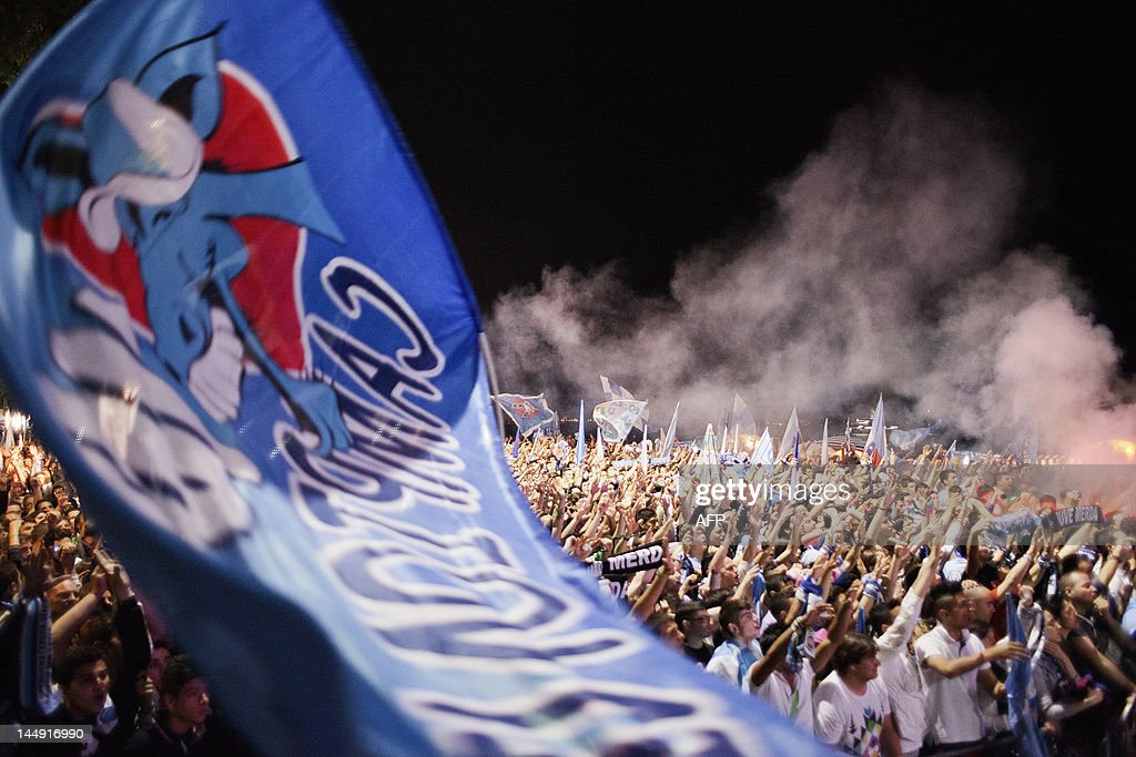 Image result for napoli fans celebrating italian cup