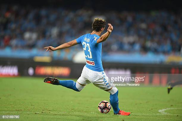 Napolis player Manolo Gabbiadini scores the goal of 10 during the Serie A match between SSC Napoli and AC ChievoVerona at Stadio San Paolo on...