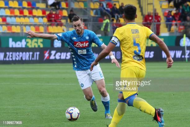 STADIUM FROSINONE LAZIO ITALY Napoli's Spanish midfielder Fabian Ruiz controls the ball during the Italian Serie A football match Frosinone Calcio vs...