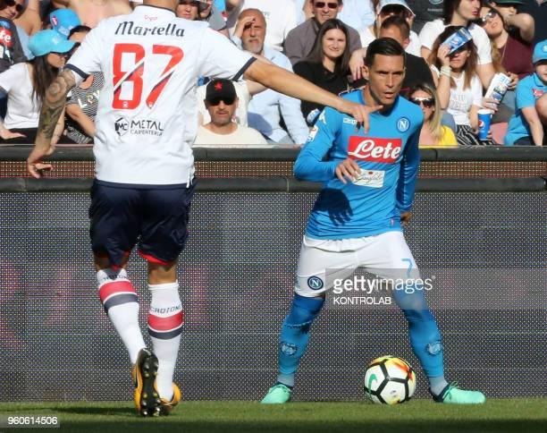 STADIUM NAPLES CAMPANIA ITALY Napoli's Spanish striker Jose Maria Callejon controls the ball during the Italian Serie A football match SSC Napoli vs...
