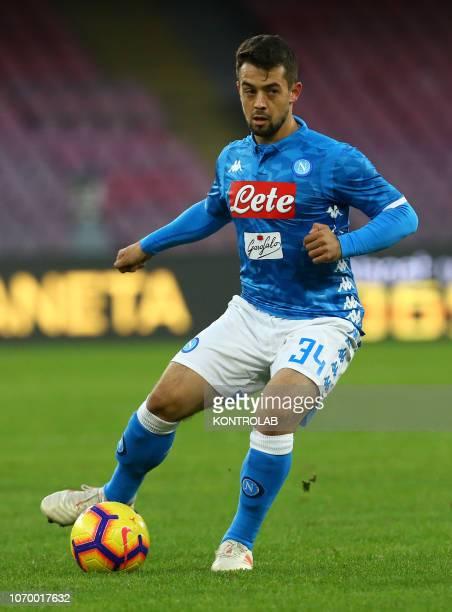 STADIUM NAPLES CAMPANIA ITALY Napoli's striker from Germany Amin Younes controls the ball during the Italian Serie A football match SSC Napoli vs...