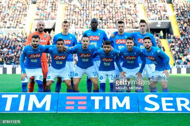 Napoli's team players Napoli's goalkeeper from Spain Pepe Reina Napoli's defender from Romania Vlad Iulian Chiriches Napoli's defender from France...