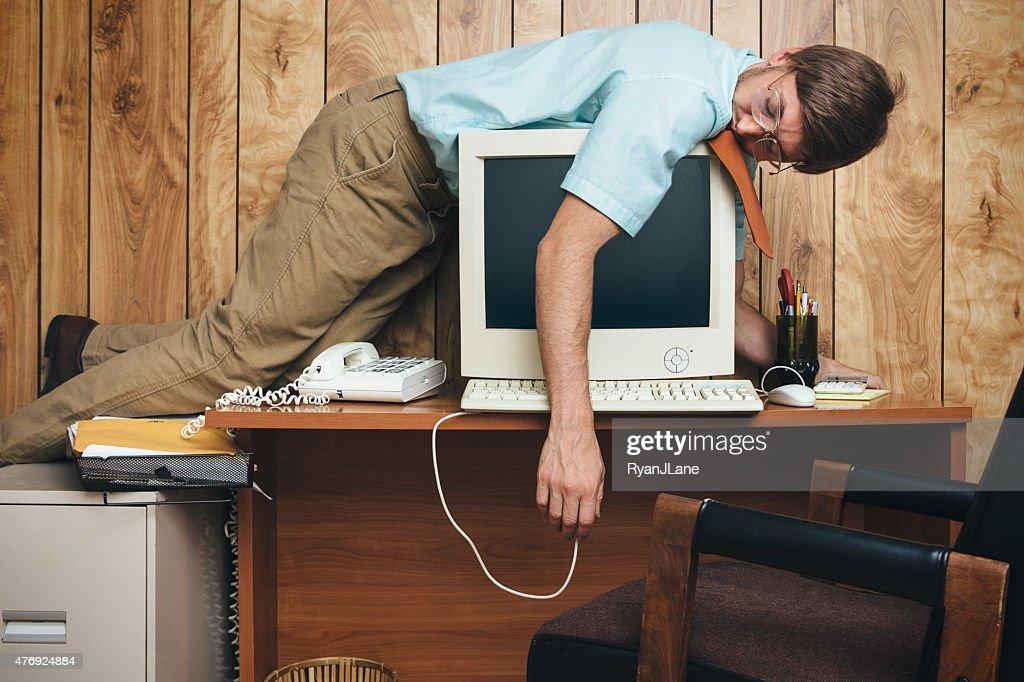 Naptime Office Worker : Stockfoto