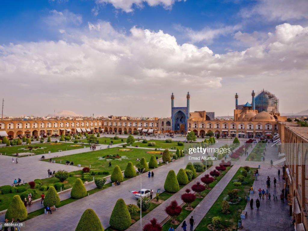 Naqsh-e Jahan Square in Isfahan, Iran - 26 April 2017 : ストックフォト