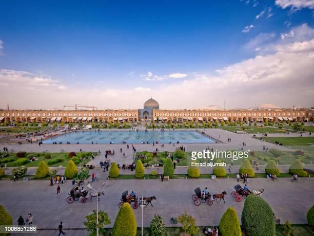 naqsh-e jahan square in isfahan, iran - isfahan stock-fotos und bilder