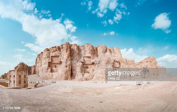 naqsh-e rostam, at persepolis, fars province, iran - persepolis stock pictures, royalty-free photos & images