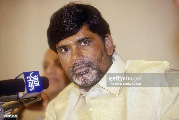 Nara Chandrababu Naidu Chief Minister of Andhra Pradesh addressing Media