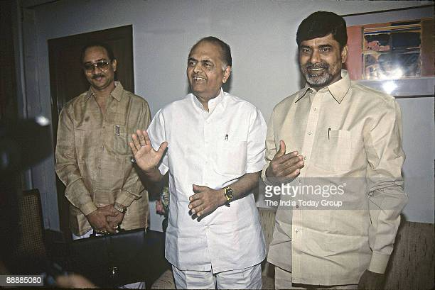Nara Chandrababu Naidu Chief Minister of Andhra Pradesh with KC Pant