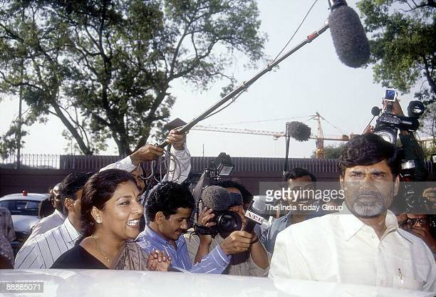 Nara Chandrababu Naidu Chief Minister of Andhra Pradesh with Renuka Choudhary