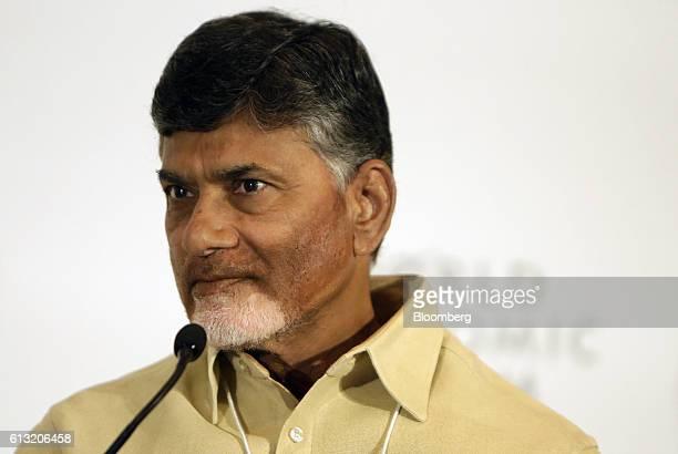 Nara Chandrababu Naidu Chief Minister Of Indias State Andhra Pradesh Speaks At The World Economic