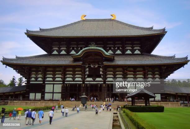 nara toudaiji temple hall of the great buddha, japan - opslagmedia voor analoge audio stockfoto's en -beelden
