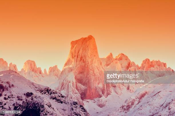 Naranjo de Bulnes at dawn in Picos de Europa.