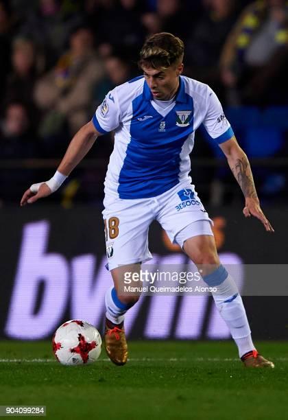 Naranjo of Leganes runs with the ball during the Copa del Rey Round of 16 second Leg match between Villarreal CF and Leganes at Estadio de La...