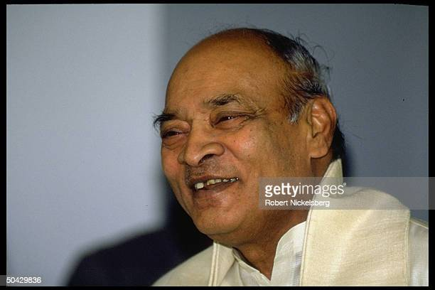 Narasimha Rao during arrival fete for visiting official .