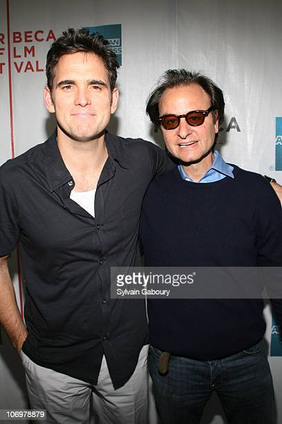 Narator Matt Dillon and producer Fisher Stevens during The Tribeca Film Festival screening of Miramax Films' Once In A Lifetime The Extraordinary...
