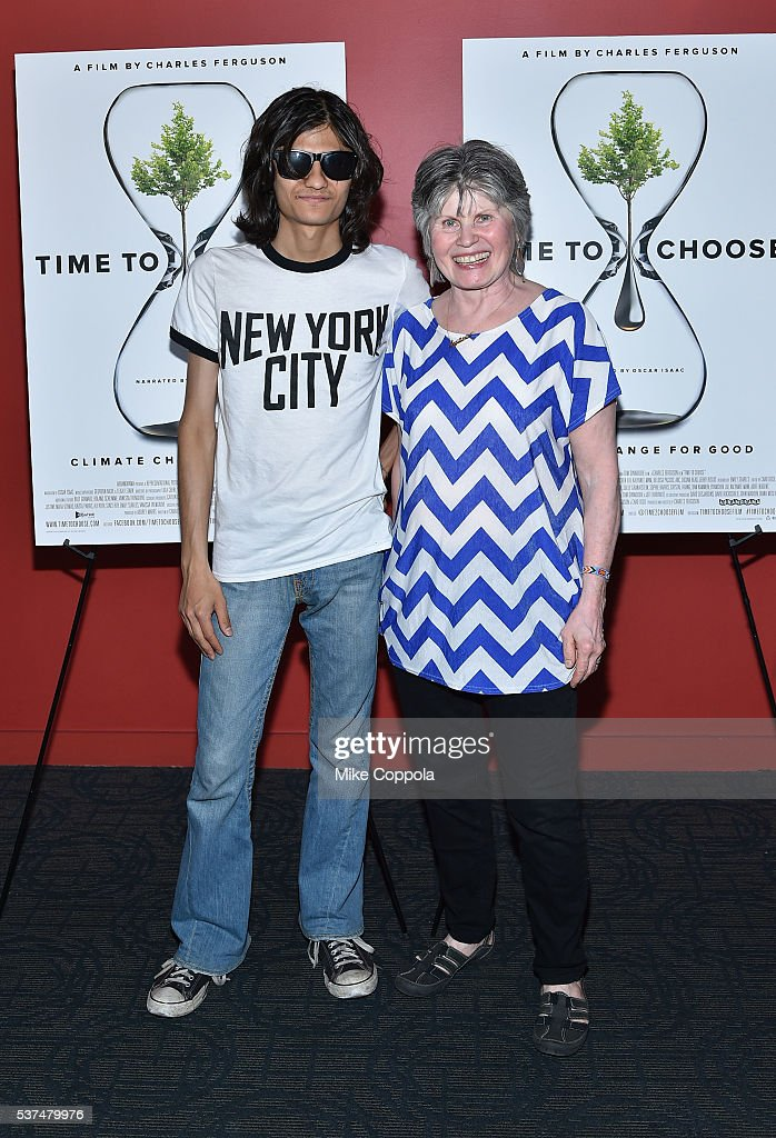 Narayana Angulo and Susanne Angulo attend the 'Time To Choose' New York screening at Landmark's Sunshine Cinema on June 1, 2016 in New York City.