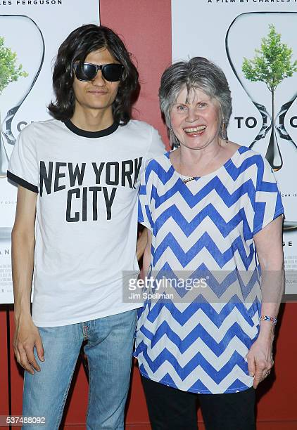 Narayana Angulo and Susanne Angulo attend the 'Time To Choose' New York screening at Landmark's Sunshine Cinema on June 1 2016 in New York City