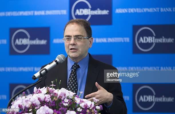 Narayana Kocherlakota, professor at University of Rochester, speaks during the Asian Development Bank Institute annual conference in Tokyo, Japan, on...