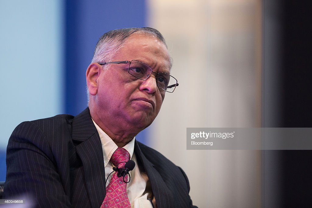 N.R. Narayana Murthy, co-founder and chairman of Infosys Ltd., attends the Hong Kong Asian Financial Forum (AFF) in Hong Kong, China, on Monday, Jan. 19, 2015. The Asian Financial Forum runs through Jan. 20. Photographer: Jerome Favre/Bloomberg via Getty Images