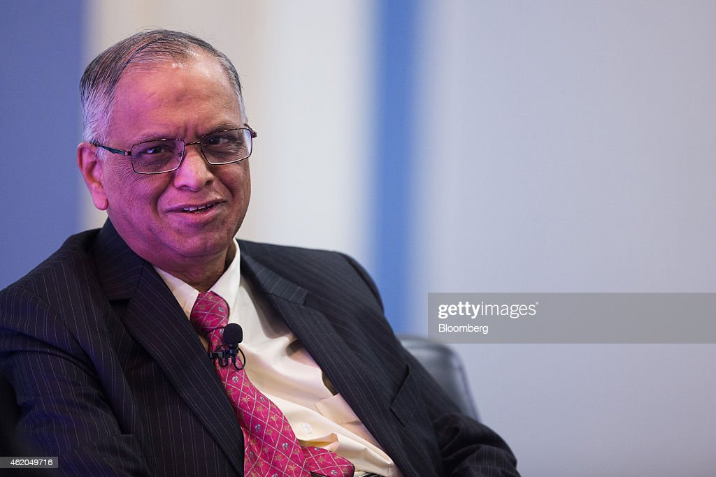 N.R. Narayana Murthy, co-founder and chairman of Infosys Ltd., speaks during the Hong Kong Asian Financial Forum (AFF) in Hong Kong, China, on Monday, Jan. 19, 2015. The Asian Financial Forum runs through Jan. 20. Photographer: Jerome Favre/Bloomberg via Getty Images