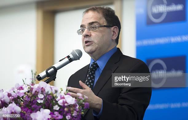 Narayana R. Kocherlakota, professor at the University of Rochester, speaks during the Asian Development Bank Institute Annual Conference 2016 in...