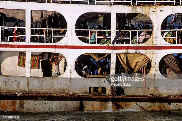 Narayanganj Port is the river port for Dhaka one of the oldest and biggest in Bangladesh Ferry on the Shitalakshya River | Location Narayanganj...