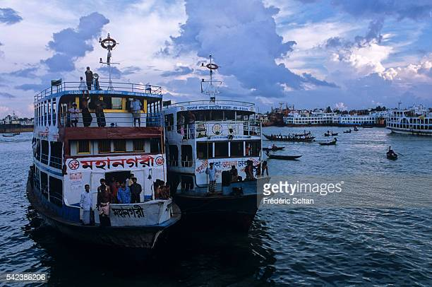 Narayanganj Port is the river port for Dhaka one of the oldest and biggest in Bangladesh Ferries on the Shitalakshya River | Location Narayanganj...