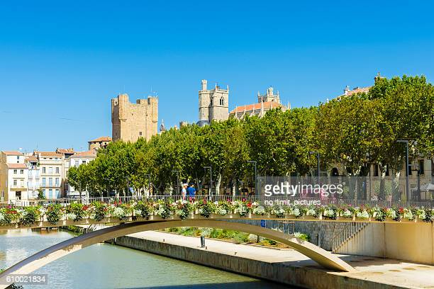 Narbonne cathedral and town hall in background