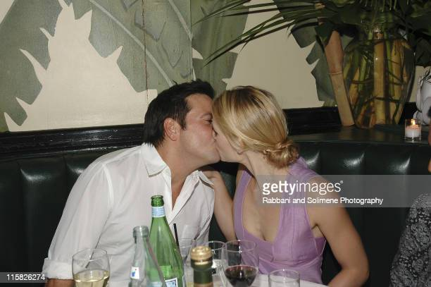 Narciso Rodriguez and Claire Danes during Olympus Fashion Week Spring 2006 Narciso Rodriguez After Party at Indochine in New York New York United...