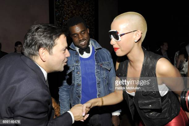 Narciso Rodriguez Kanye West and Amber Rose attend NARCISO RODRIGUEZ After Party at Rose Bar on February 17 2009 in New York City