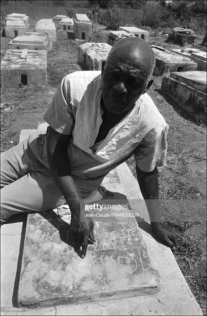 Narcisse at the site where he was buried in may 1962 - This