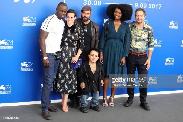 Narcisse Mame, Sara Serraiocco, Marco D'Amore, Simoncino, Aline Belibi and Claudio Santamaria attend the 'Brutti E Cattivi' photocall during the 74th...