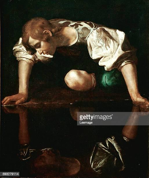 Narcissus by Michelangelo Merisi da Caravaggio 1596 110x92 cm Galleria Nazionale d'Arte Antica Palazzo Barberini Rome