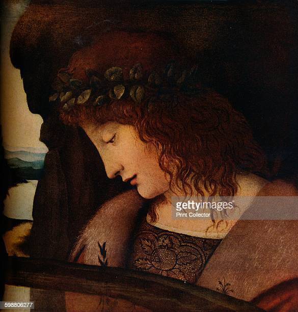 Narcissus circa 1500 Painting held in The National Gallery London From The Connoisseur Volume 101 [The Connoisseur Ltd London 1938] Artist Giovanni...