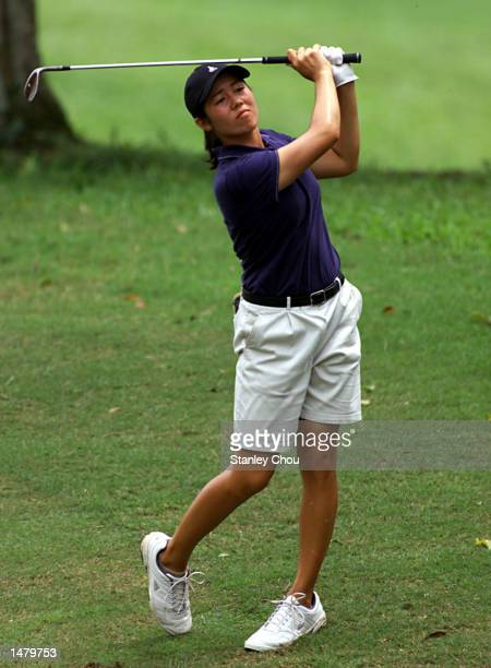 Naree Song Wongluekiet of Thailand in action during the second round of the 20th Women's World Amateur Team Golf Championship held at the Saujana...