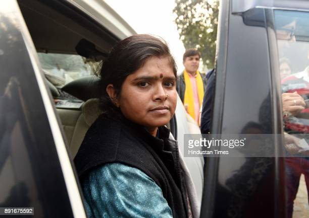 Narela victim Parveen who was discharged from hospital at Rajghat area on December 13 2017 in New Delhi India Last week the woman had helped the DCW...