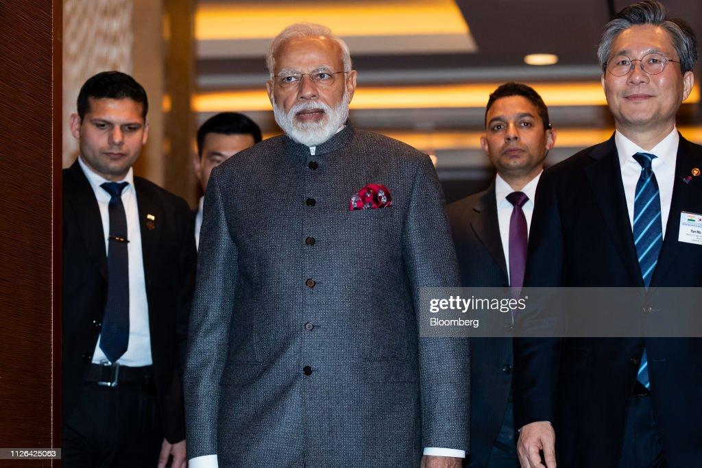 KOR: India's Prime Minister Narendra Modi Attends Business Forum in South Korea