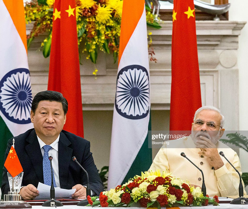 Chinese President Xi Jinping Meets With Indian Prime Minister Narendra Modi : News Photo