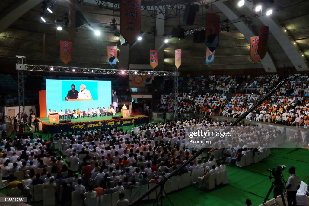 IND: India Prime Minister Narendra Modi Speaks At A Traders National Convention