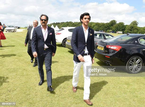 Narendra Singh and HH Maharaja Padmanabh Singh of Jaipur attends the Maserati Polo Tour 2017 at Beaufort Polo Club on June 11 2017 in Tetbury England