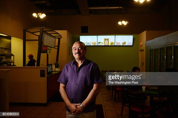 Naresh Advani poses for a portrait photograph inside the Balaji Cafe in Herndon VA November 14 which he opened in January of 2014 It was the veteran...