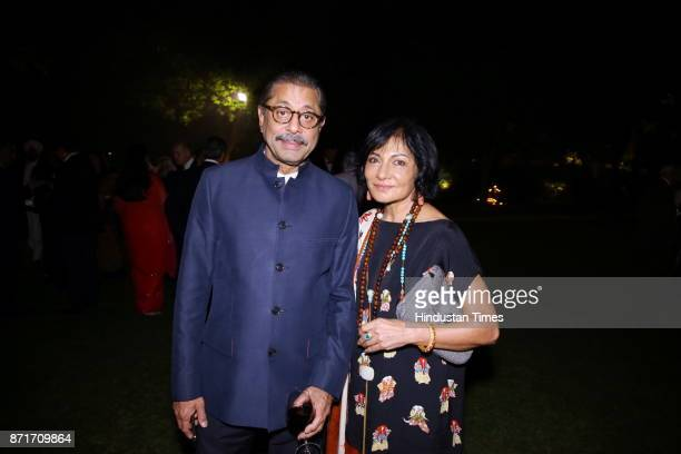 Naresh and Madhu Trehan during the fundraiser for Lepra India Trust at the residence of the British High Commissioner Sir Dominic Asquith at 2 Rajaji...