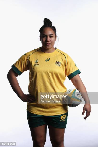 Nareta Marsters poses during the Wallaroos World Cup Headshots Session at the Sydney Academy of Sport on July 30 2017 in Sydney Australia