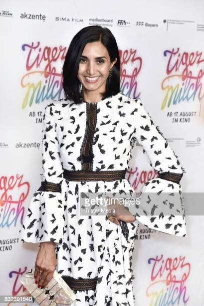 Narges Rashidi attends the 'Tigermilch' Premiere at Kino in der Kulturbrauerei on August 15 2017 in Berlin Germany