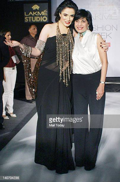 Nargis Bagheri and Mona Shroff at the Lakme Fashion Week 2012 held in Mumbai