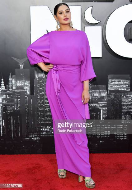 Nargis Fakhri attends the LA premiere of Amazon Studio's Late Night at The Orpheum Theatre on May 30 2019 in Los Angeles California