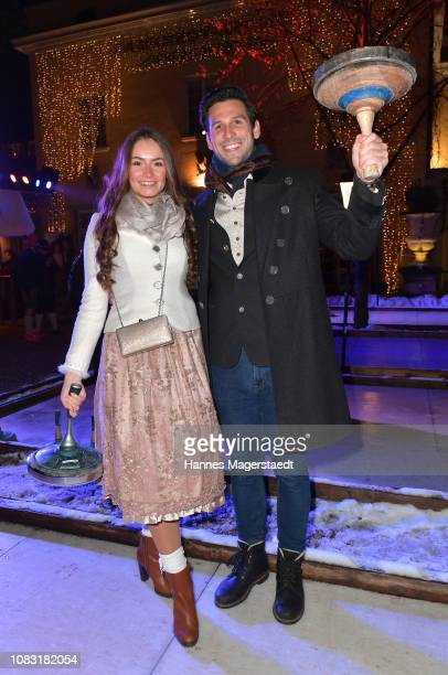 Narhalla Prinzenpaar 2019 Sarah Zahn and Fabrician Pankl attend the Angermaier 'Eisstock WM' at Park Cafe on January 15 2019 in Munich Germany